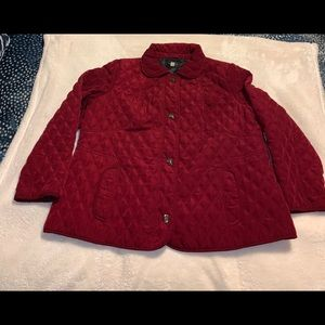 Quilted red woman's jacket